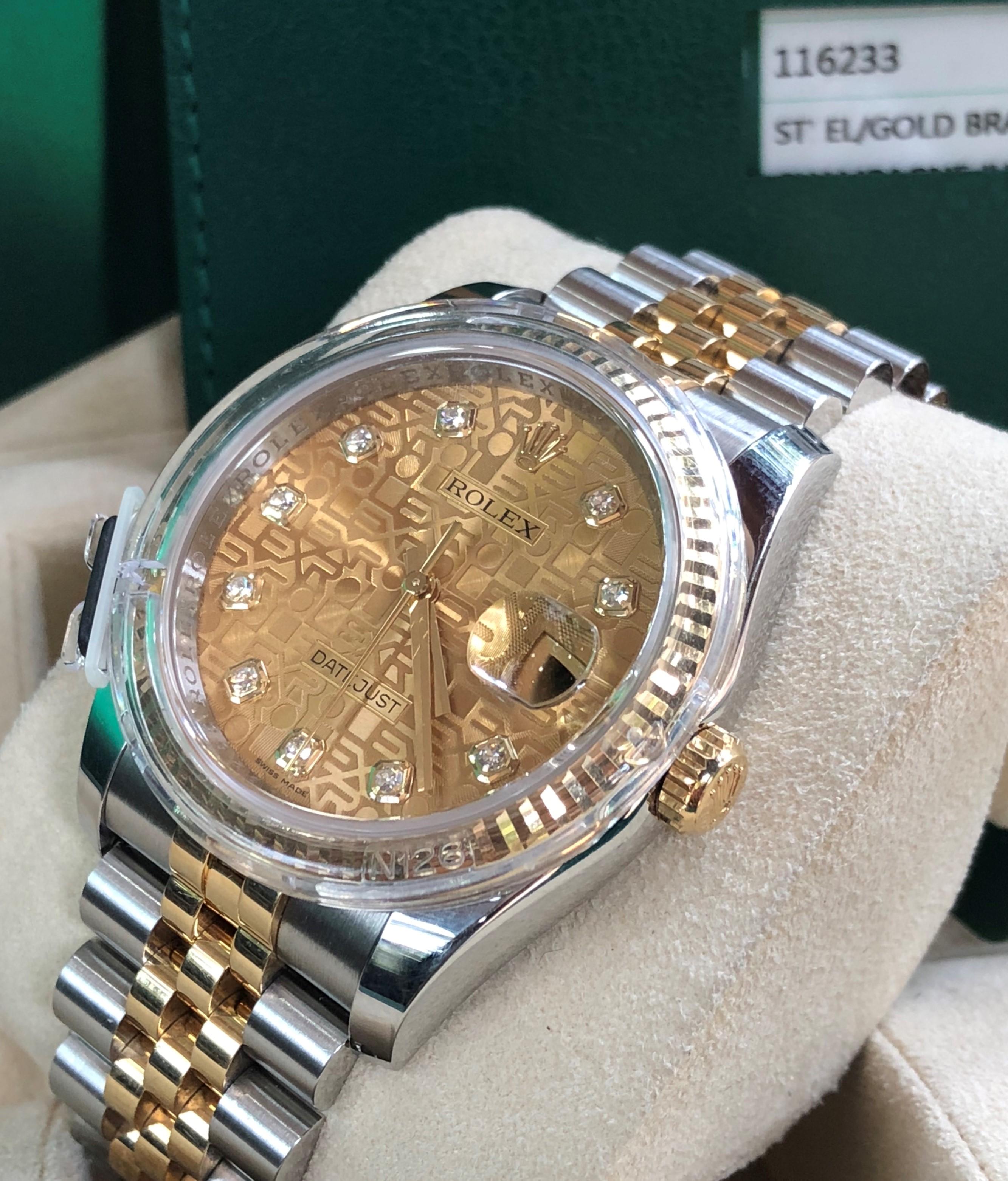 Rolex 116233 mặt vi tính demi vàng 18k Fullbox đời 2018