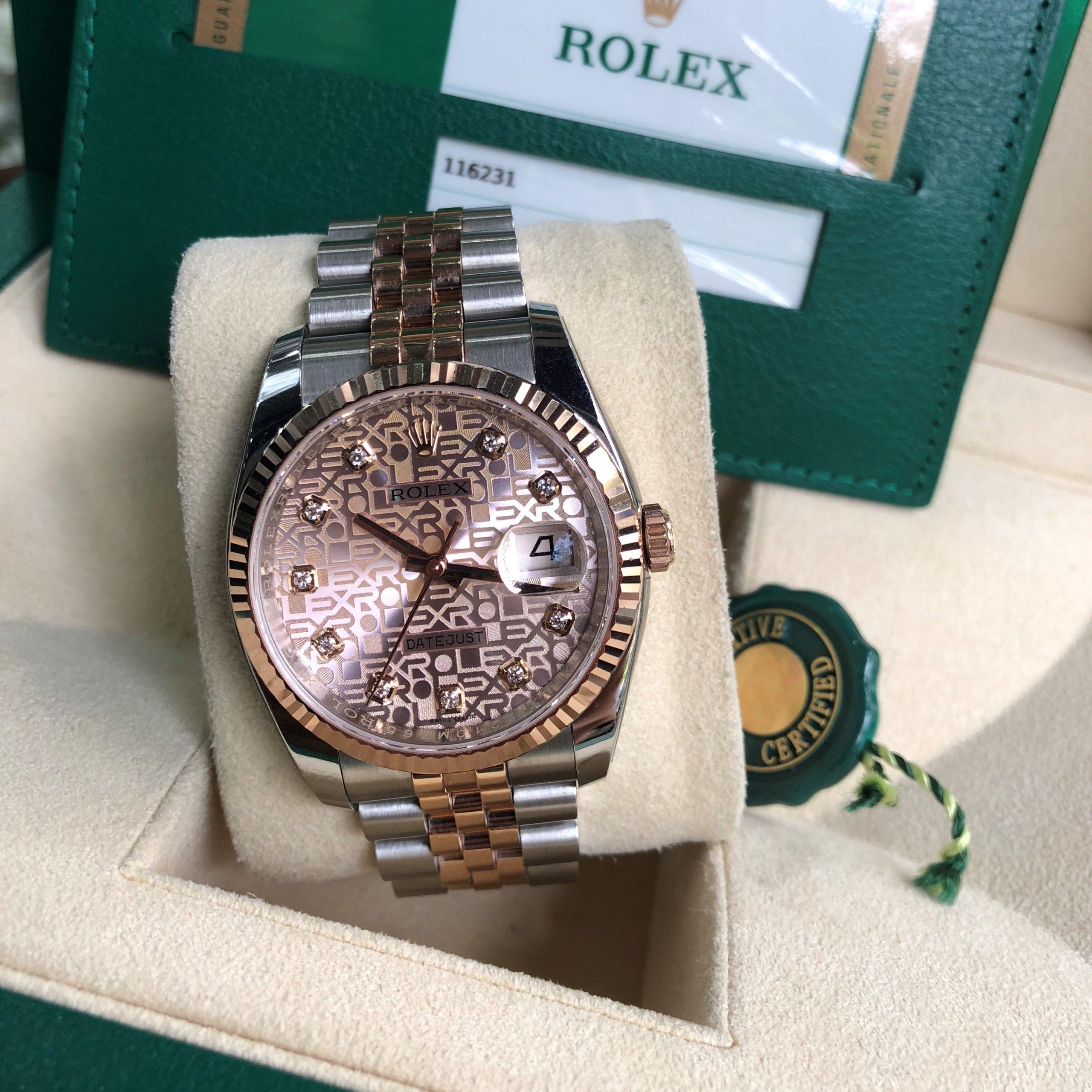 Rolex 116231 mặt vi tính demi vàng 18k Fullbox đời 2018 như mới