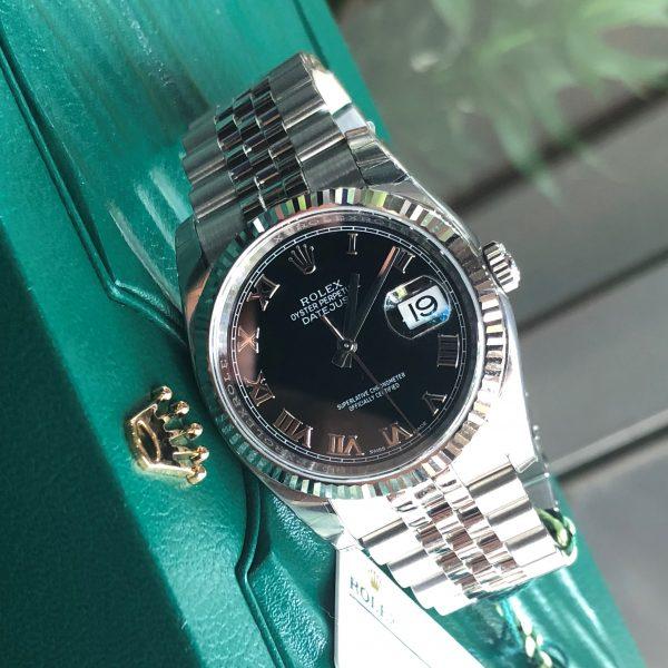Rolex 116234 mặt đen cọc số la mã mới 100% Fullbox