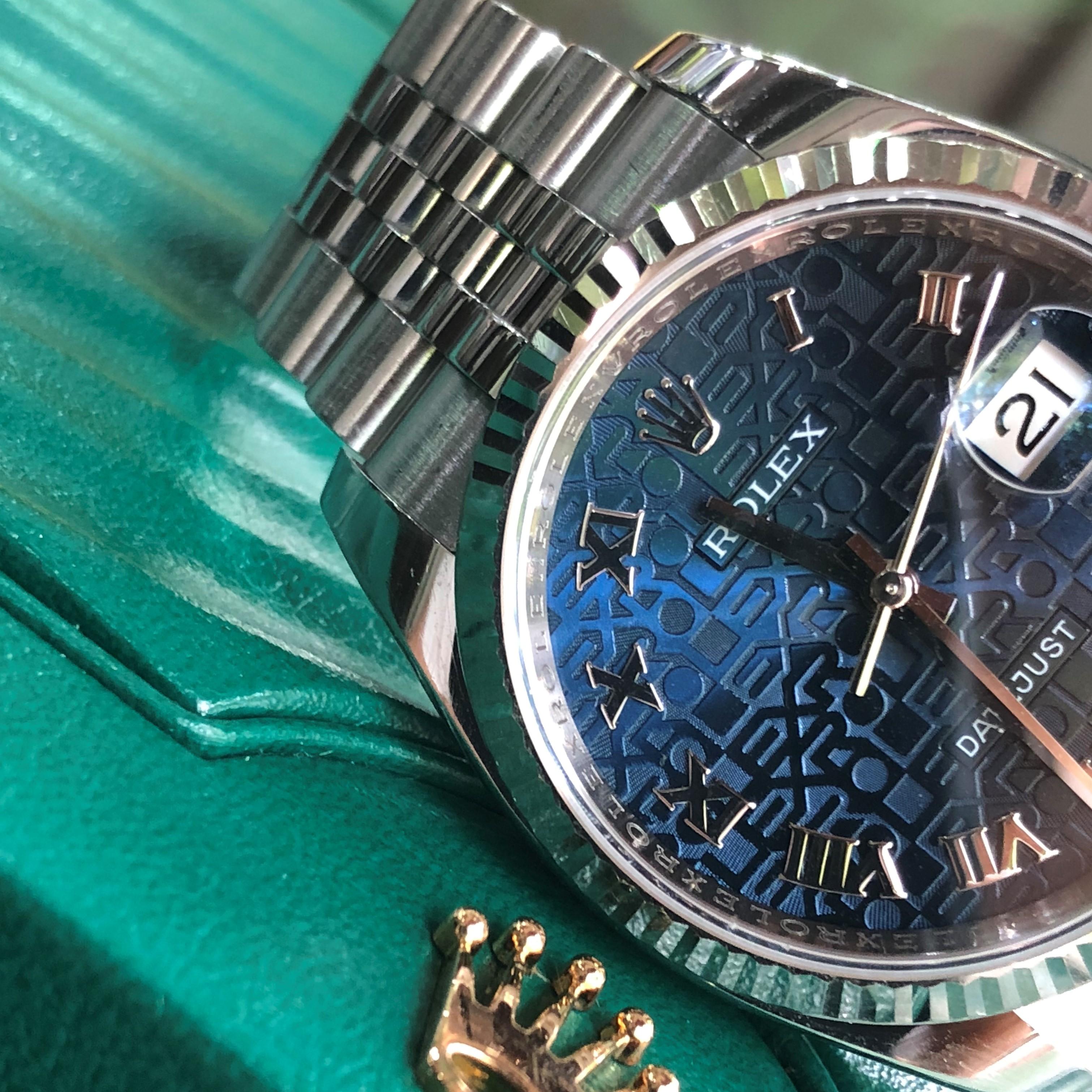 Rolex 116234 mặt vi tính xanh NaVy