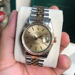 Rolex 16233 mặt vàng tia demi vàng 18k size 36mm đời 1995