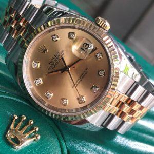 Rolex 116233 mặt tia vàng cọc kim cương demi vàng 18k đời 2012