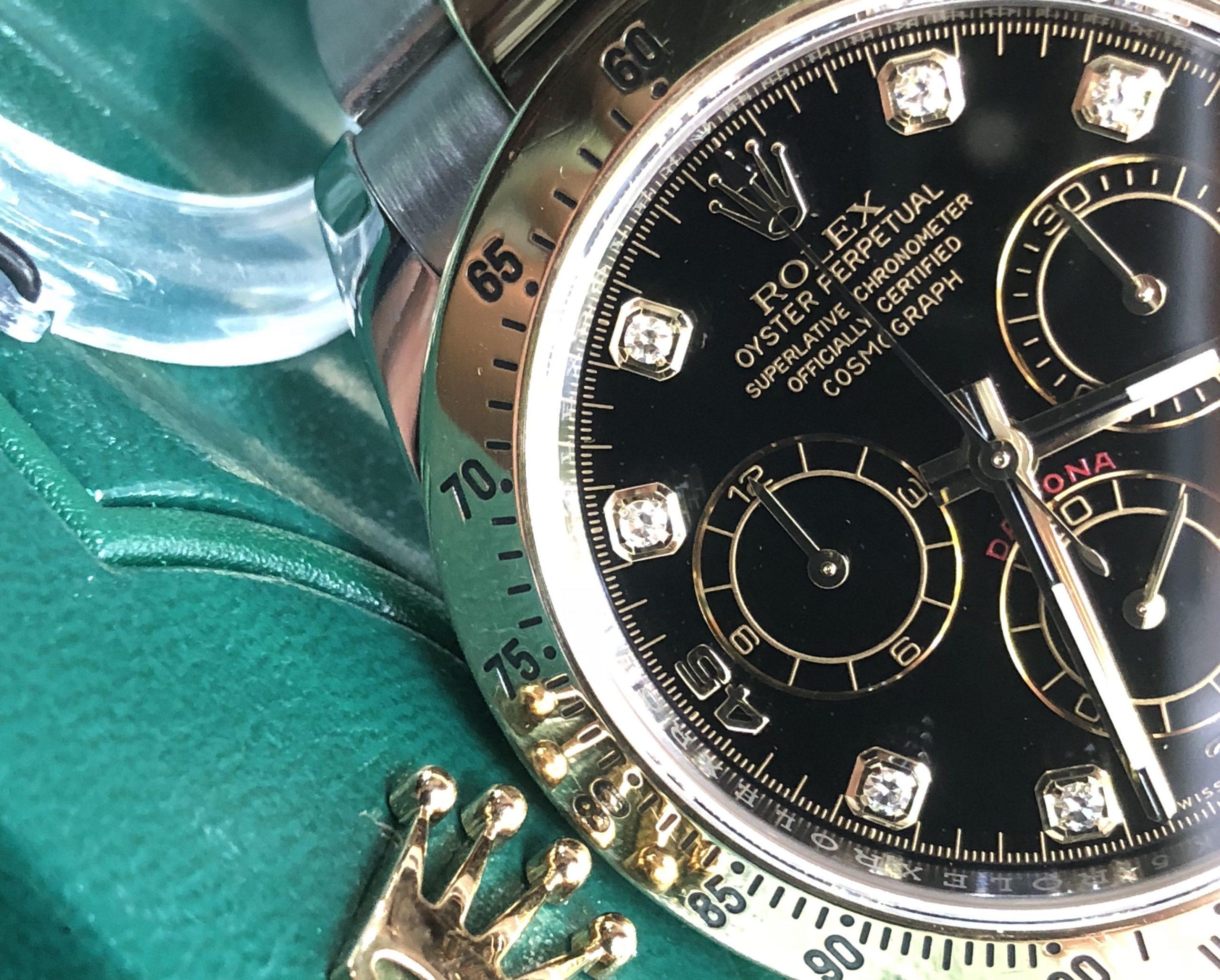 Rolex Daytona 116523 cọc số Diamond demi vàng 18k Fullbox 2016