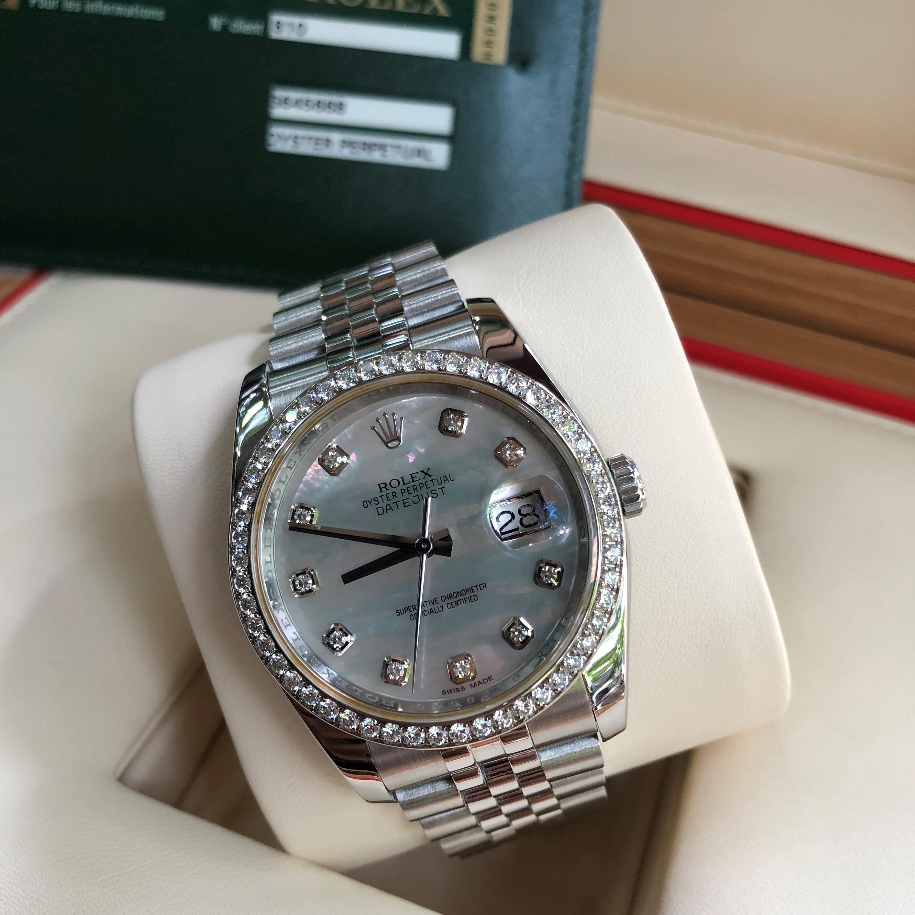 Rolex 116244 mặt ốc niềng kim cương zin Size 36mm Fullbox 2012