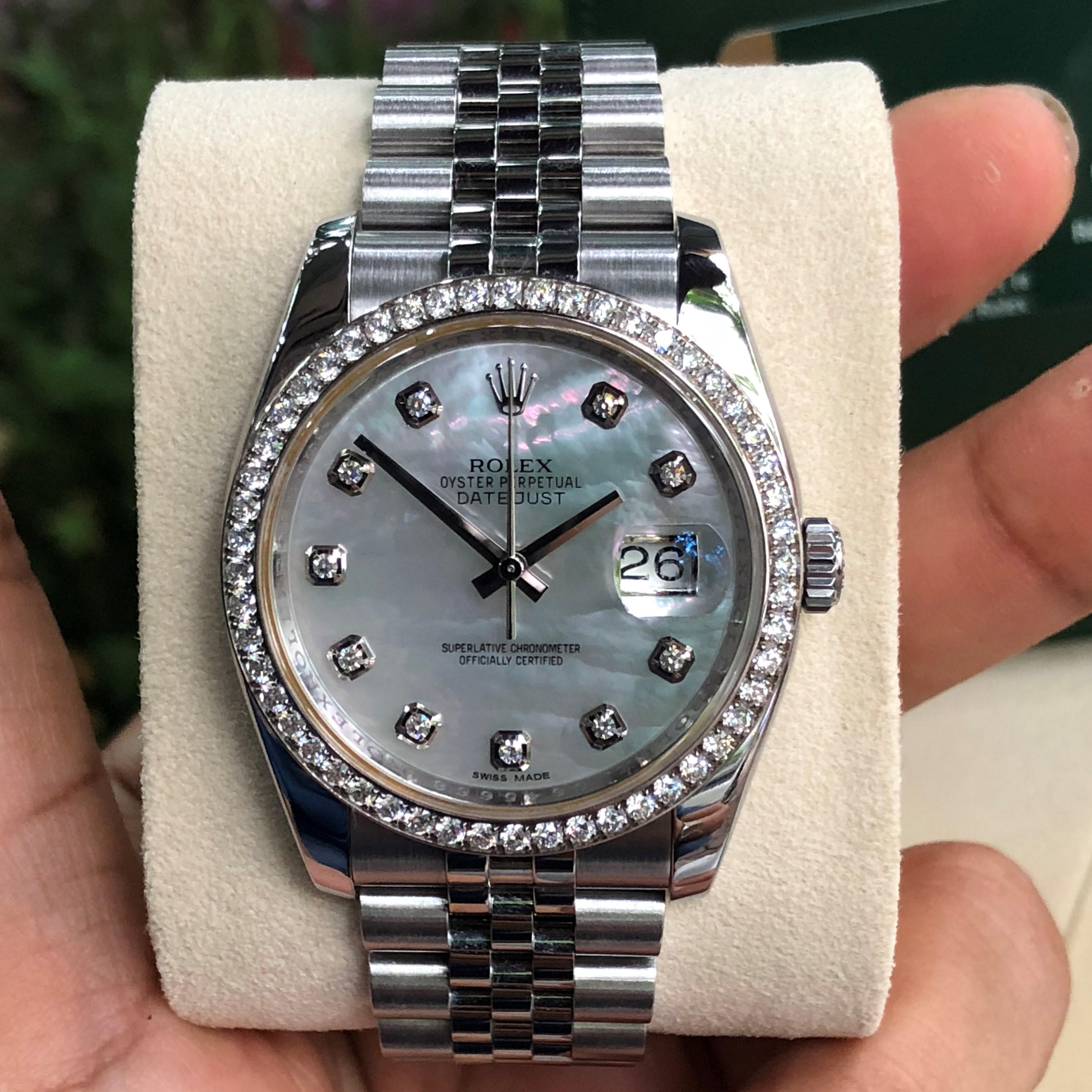 Rolex 116244 mặt ốc niềng kim cương zin