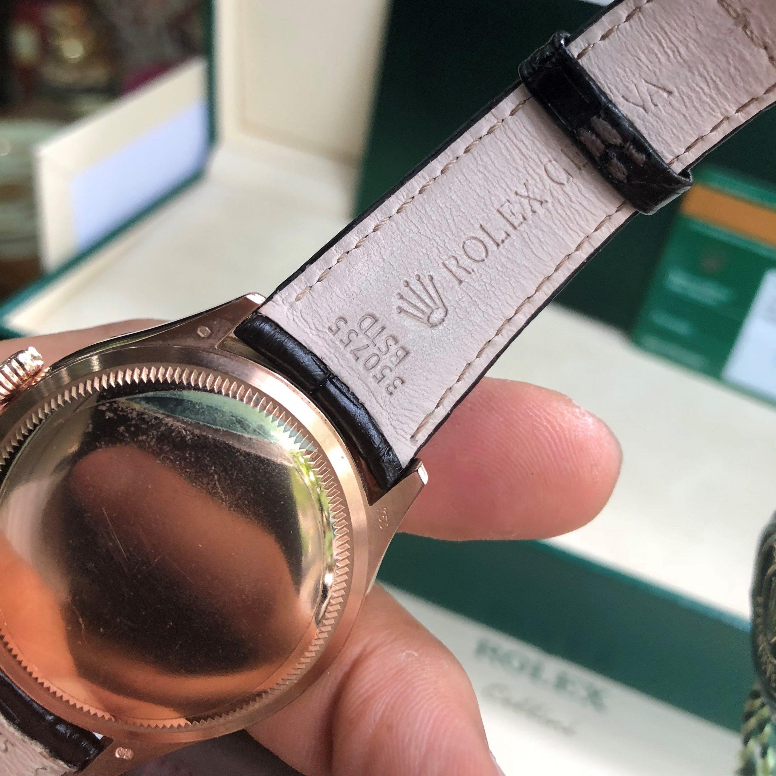 Rolex Cellini 50505 mặt trắng vàng hồng 18k Size 39 Fullbox 2017