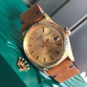 Rolex Datejust 1601 mặt vàng tia Yellow Gold 18k Size 36mm