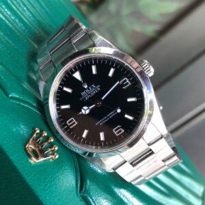 Rolex Explorer 114270 mặt đen thép 904L cọc số 369 Size 36mm