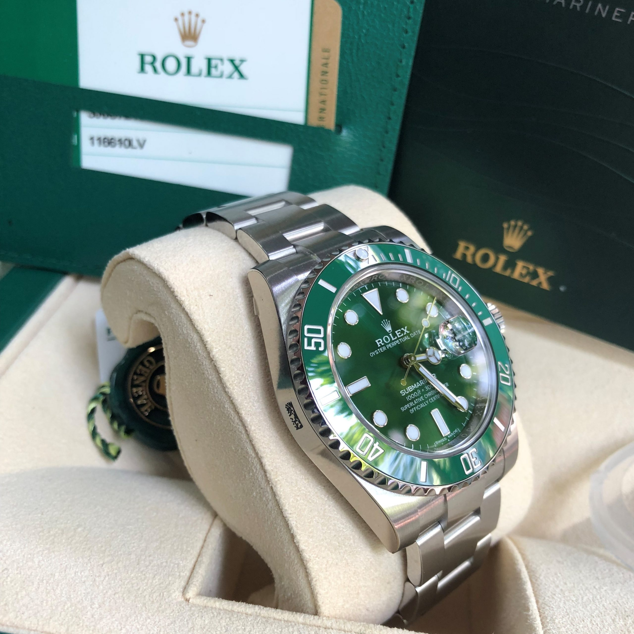 Rolex Submariner 116610LV mặt xanh Stainless steel size 40mm