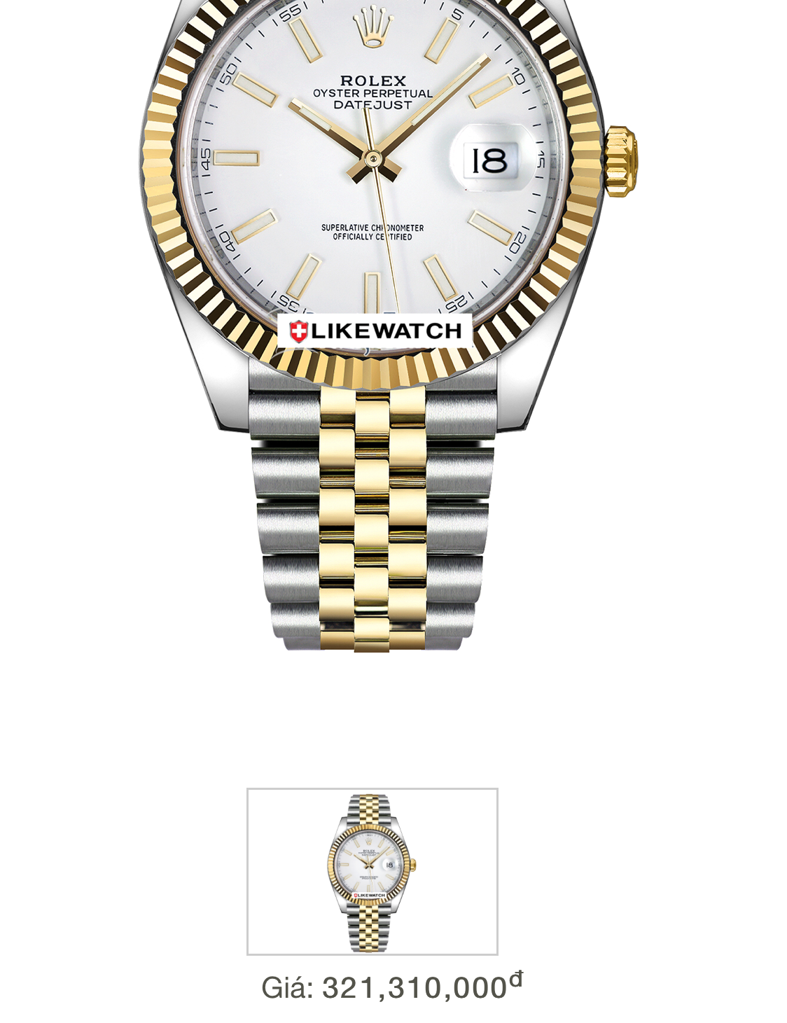 Rolex 126333 mặt vàng tia demi vàng 18k size 41mm