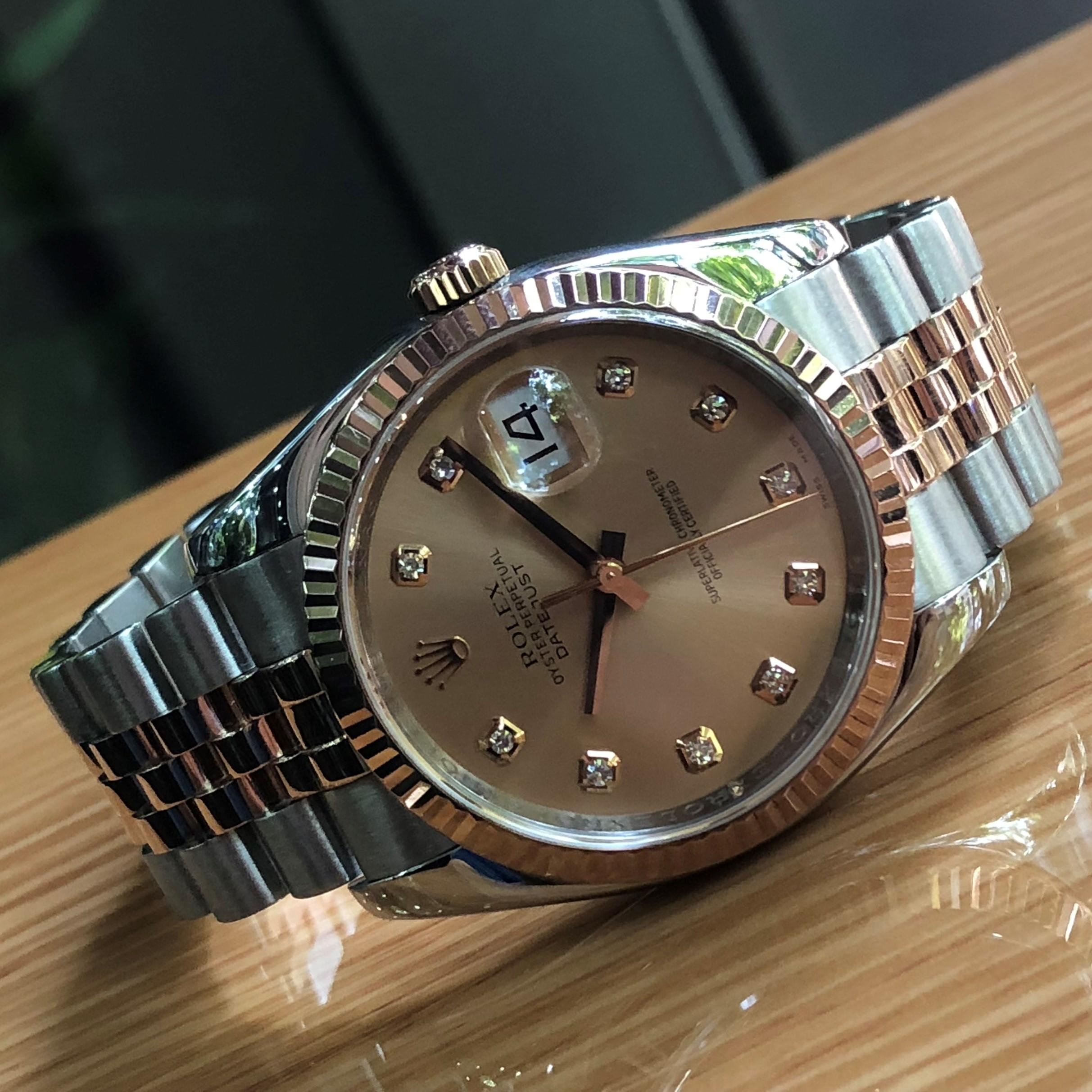Rolex 116231 mặt phấn hồng demi vàng hồng 18k đời 2007