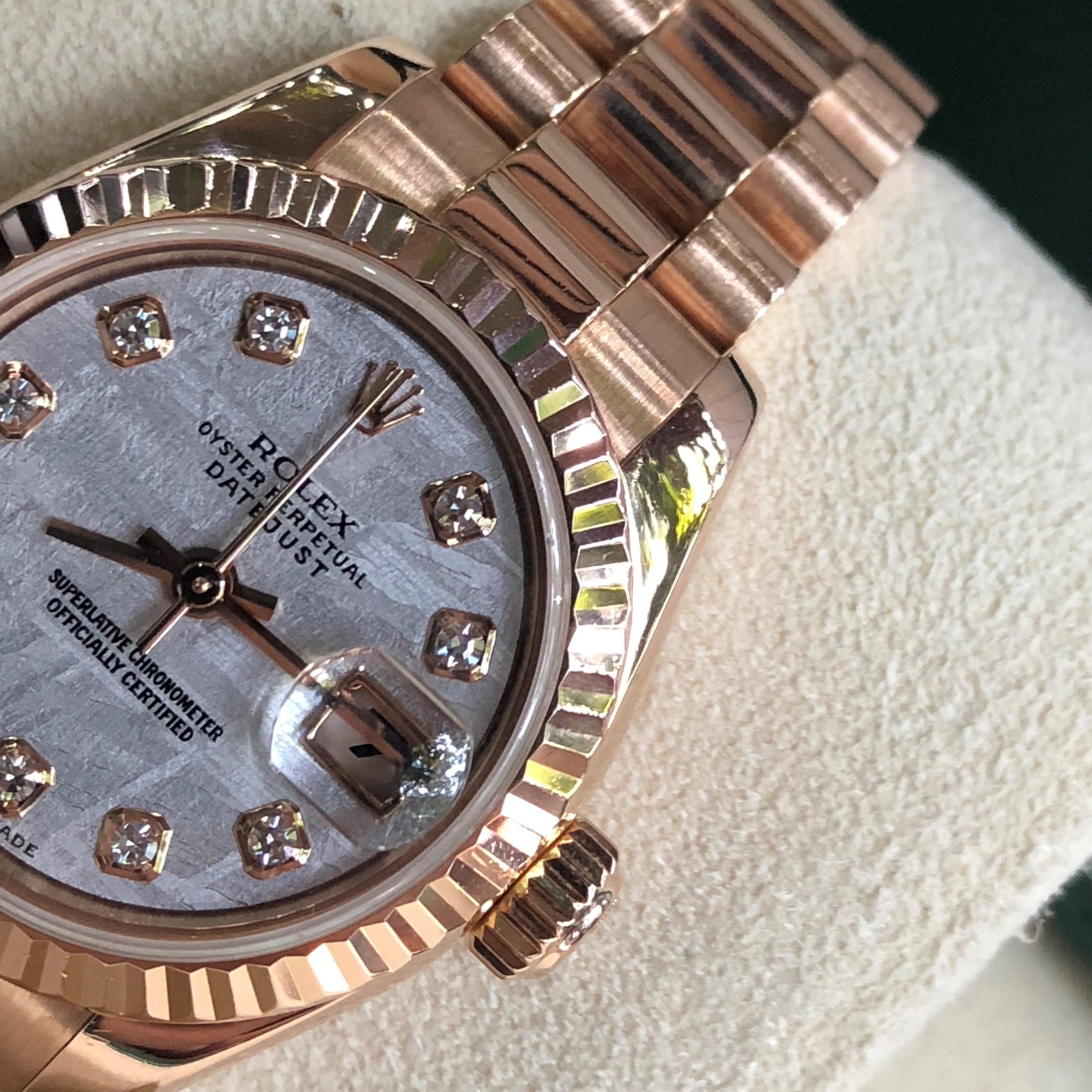 Rolex 179175 mặt thiên thạch vàng hồng 18k size 36 Fullbox 2009