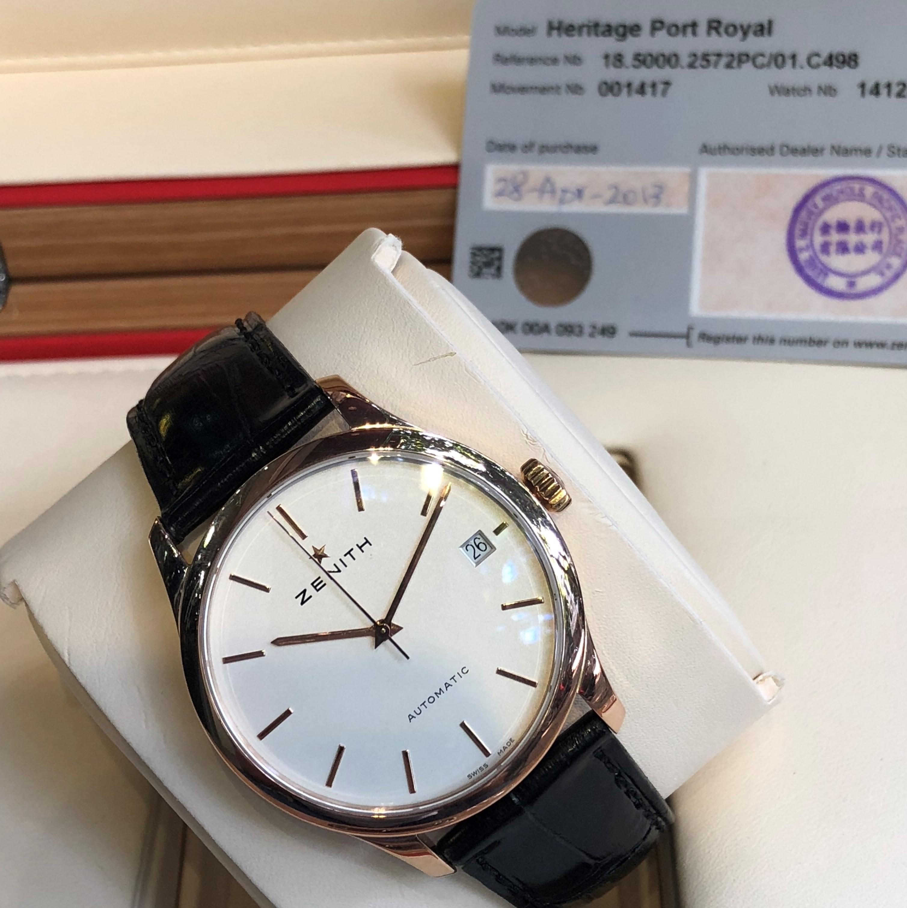 Zenith Heritage Port Royal 1850002572PC01C498 Rose Gold