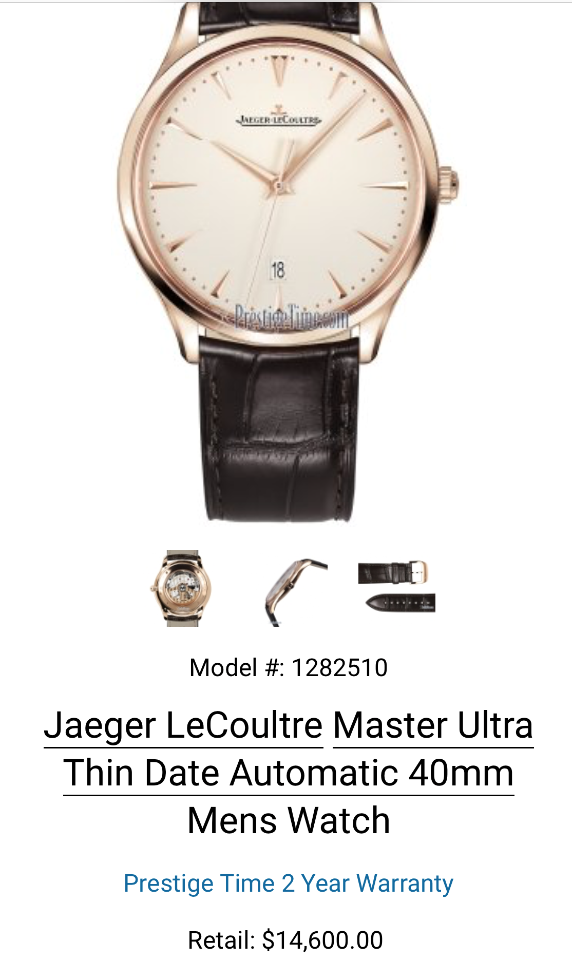 JAEGER LECOULTRE Master Ultra Thin Date Automatic