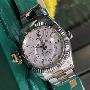 Rolex Sky-Dweller 326934 mặt số trắng Size 42mm Fullbook 2018