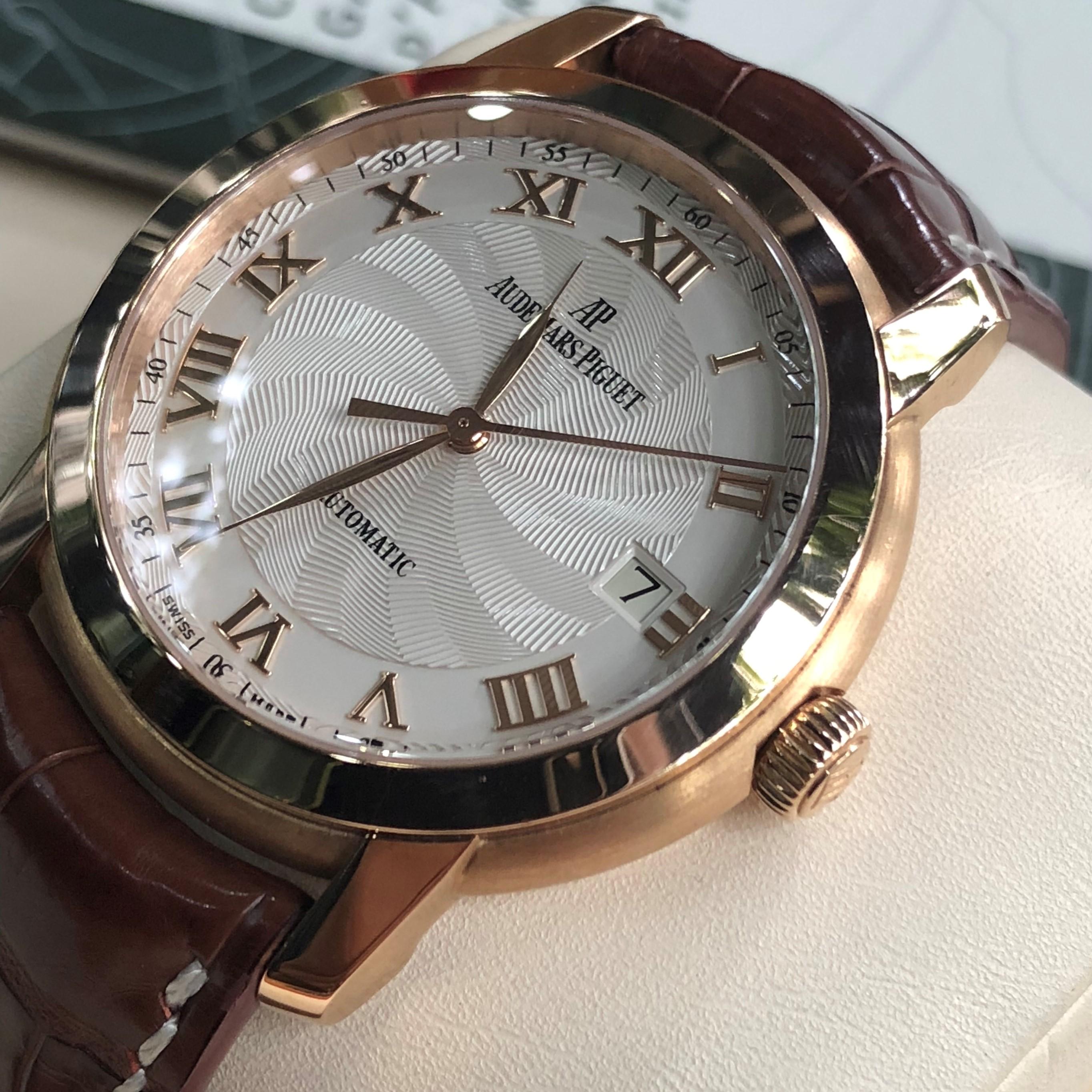 Audemars Piguet 15120OR mặt vân xoáy vàng hồng 18k Fullbox 2009