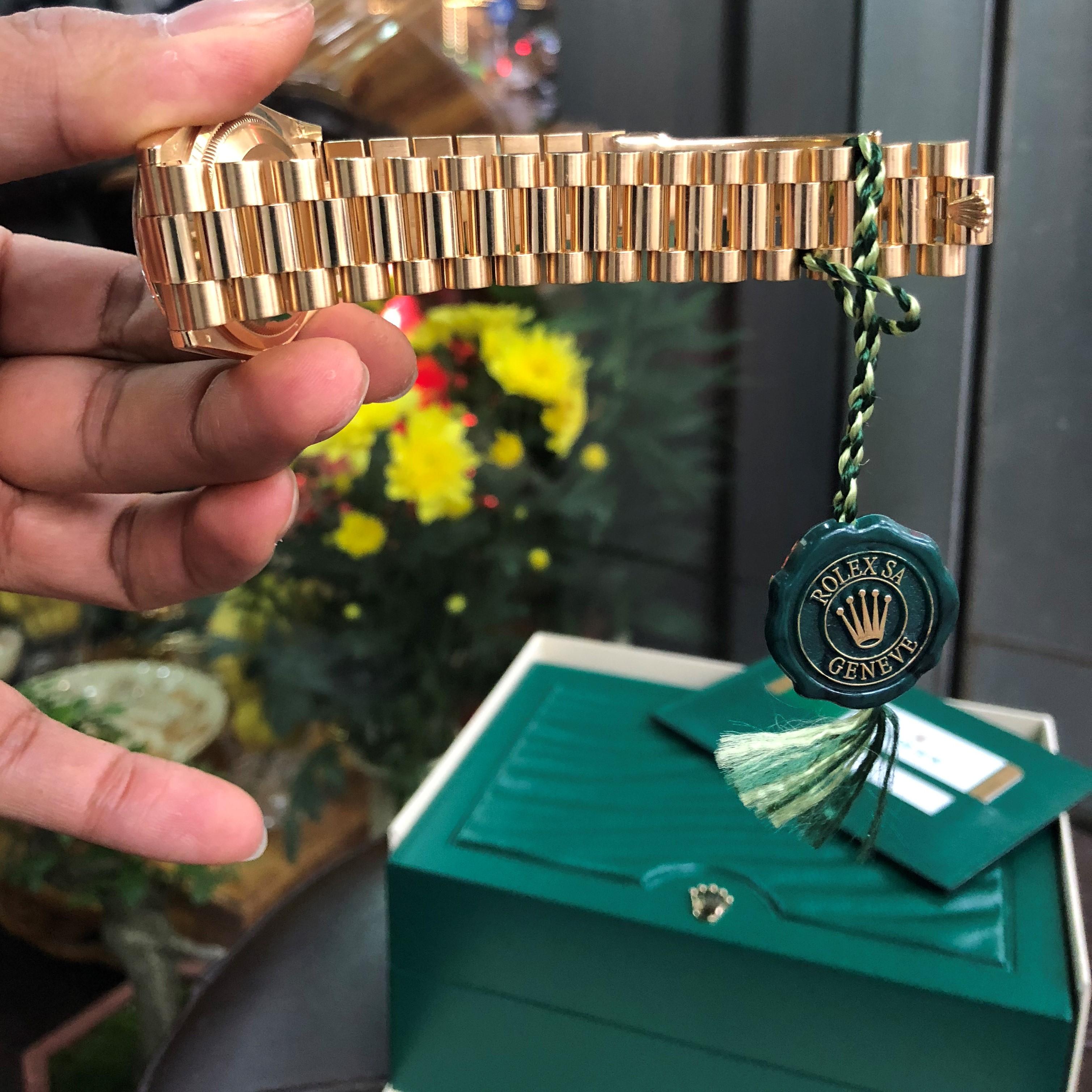 Rolex 118238 mặt ốc tím vàng khối 18k fullbox 2017