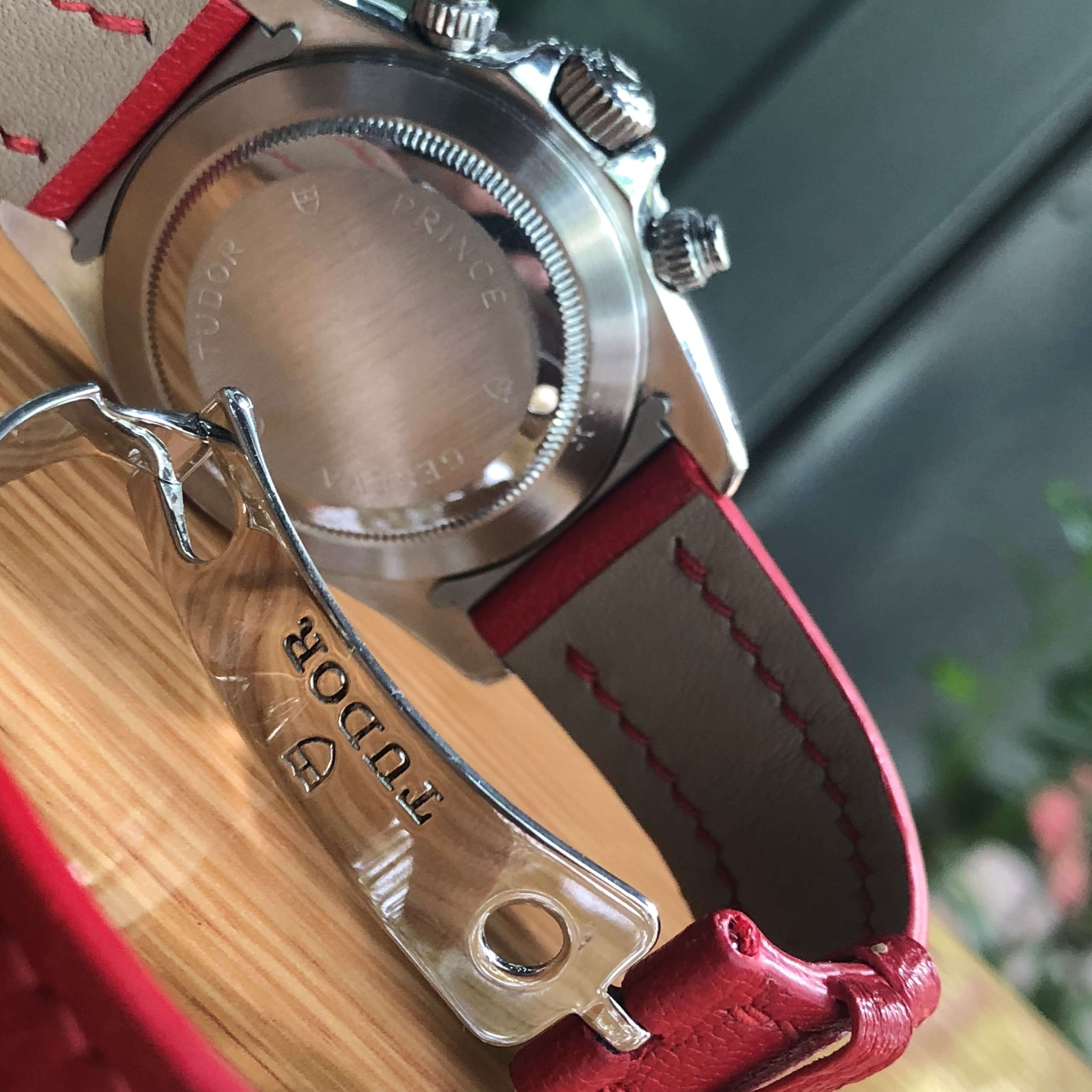 Tudor Prince Date Tiger Woods 79260 Chronograph Red Dial Stainless Steel