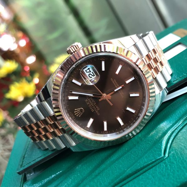 rolex-datejust-126331-mat-cafe-demi-vang-hong-fullbox-2016