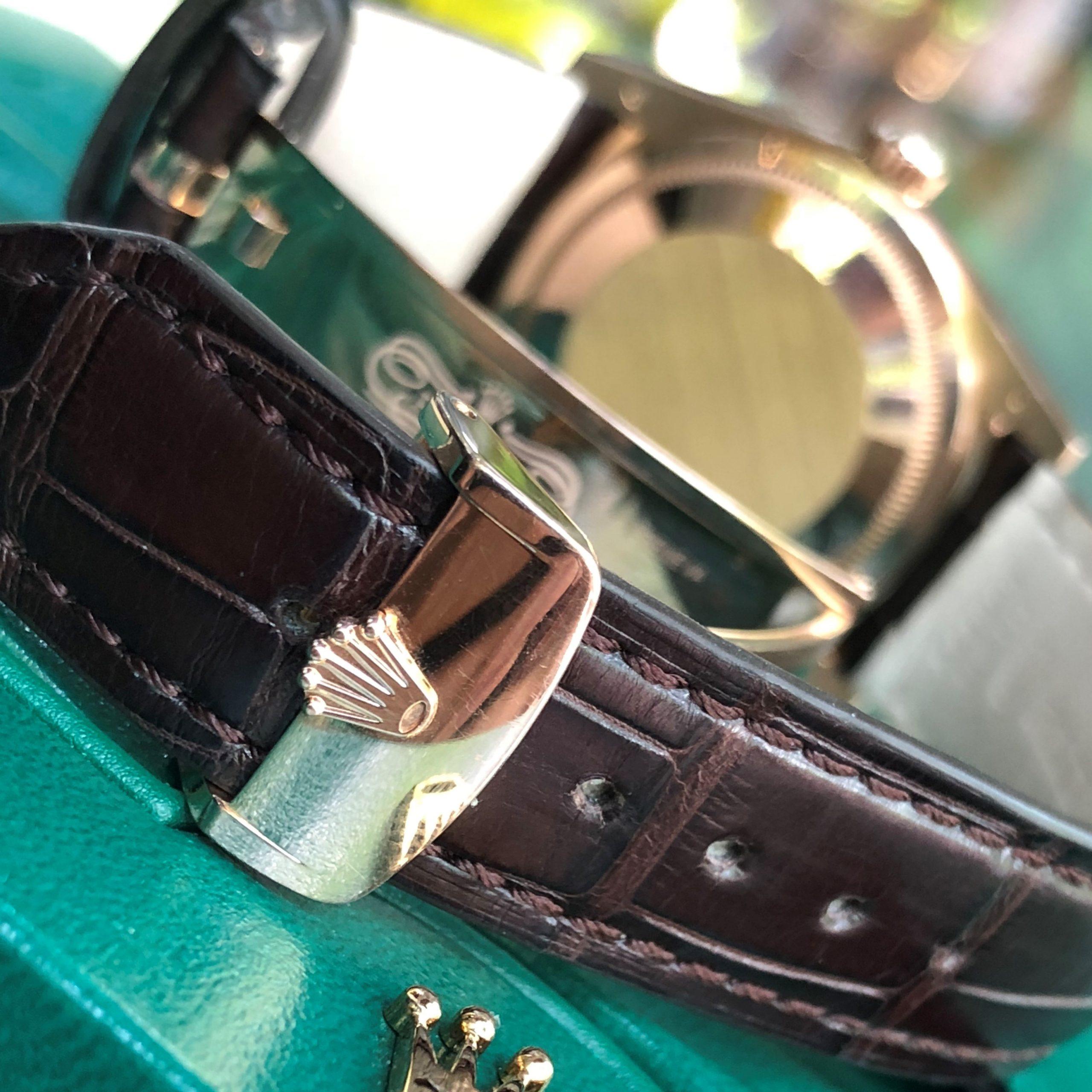 Rolex Day-Date 118135 mặt nâu vàng hồng 18k fullbox 2014
