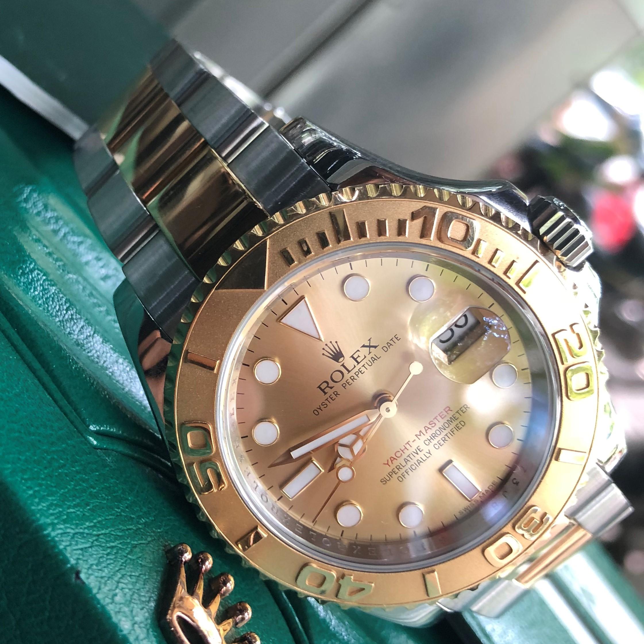 Rolex Yacht Master 16623 demi vàng 18k size 40mm Fullbox 2014