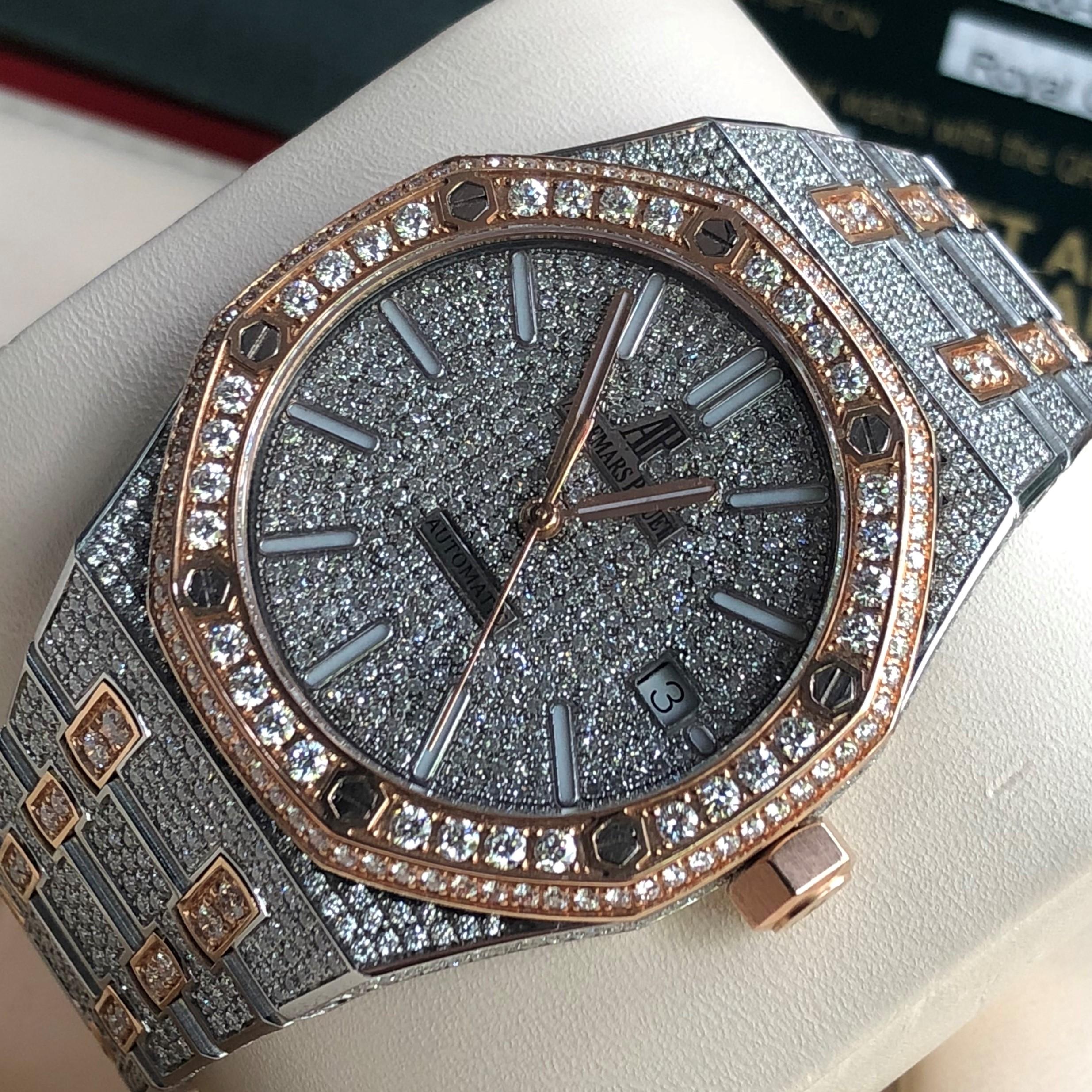 Audemars Piguet Vàng hồng 18k full kim cương size 37mm