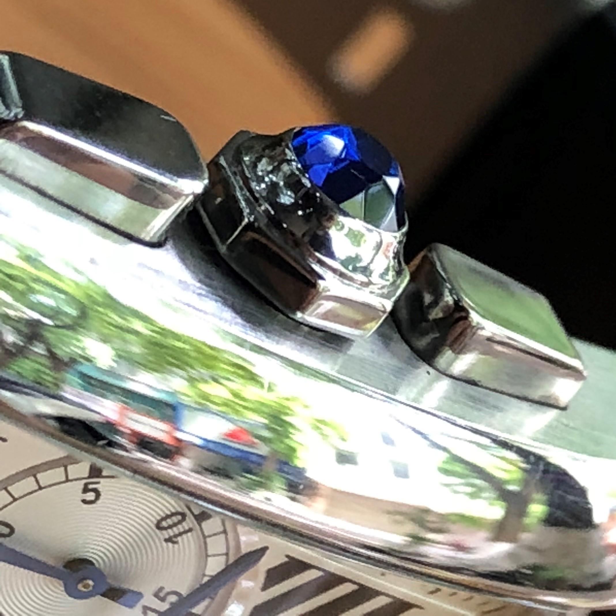 Cartier Tank MC W5330008 Chronograph thép cọc số La Mã