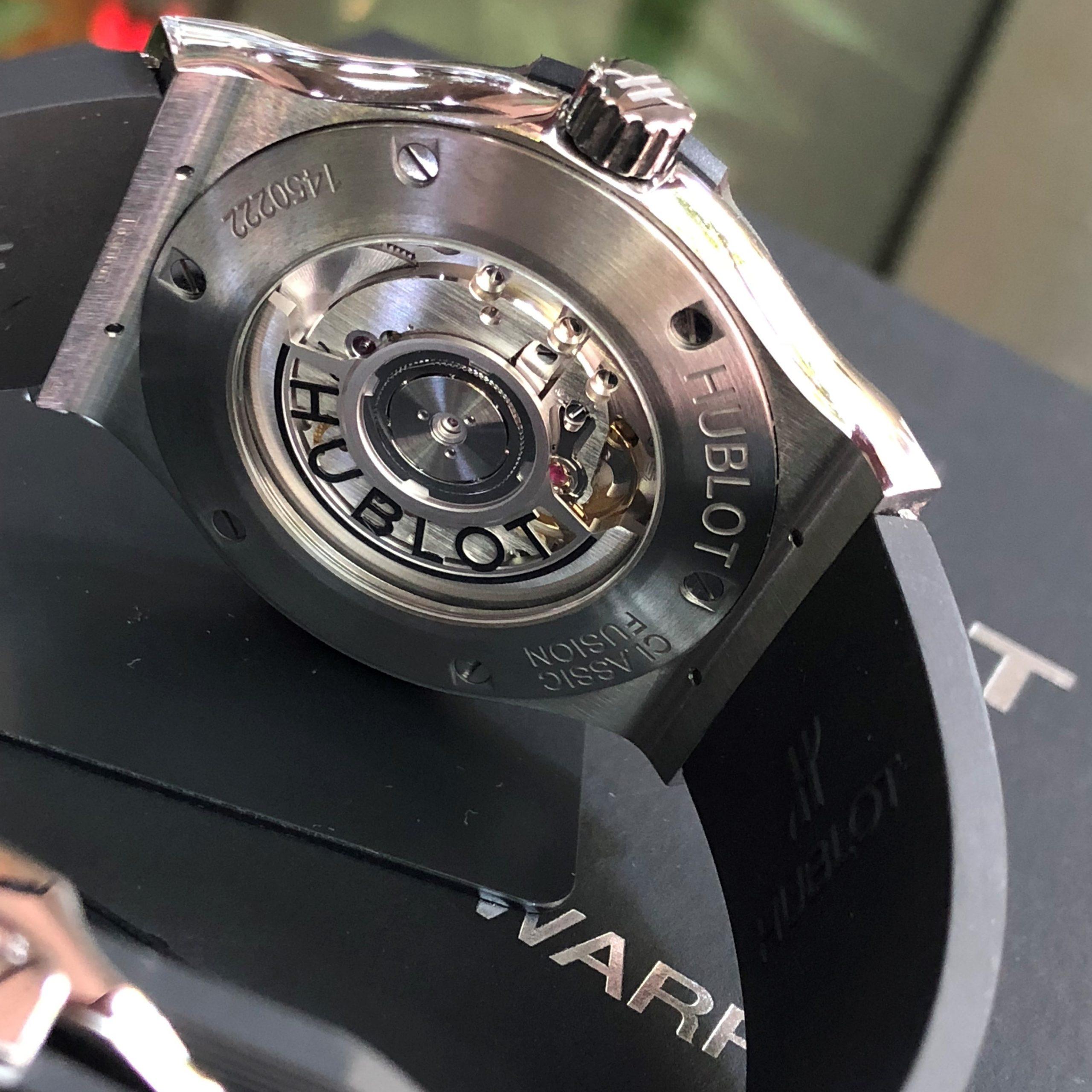 Hublot Classic Fusion 542.NX.1171.RX mặt đen Titanium Fullbox 2020