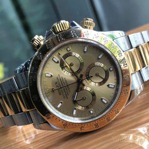 Rolex Cosmograph Daytona 116523 demi vàng 18k size 40 năm 2005