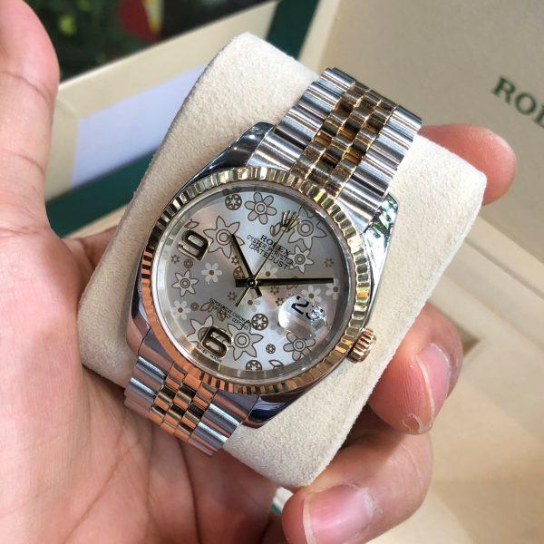Rolex Datejust 116233 mặt hoa Demi vàng 18k đời 2003 - 2004