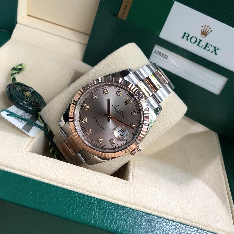 Rolex Datejust 126331 demi vàng hồng 18k Size 41mm Fullbox 2018