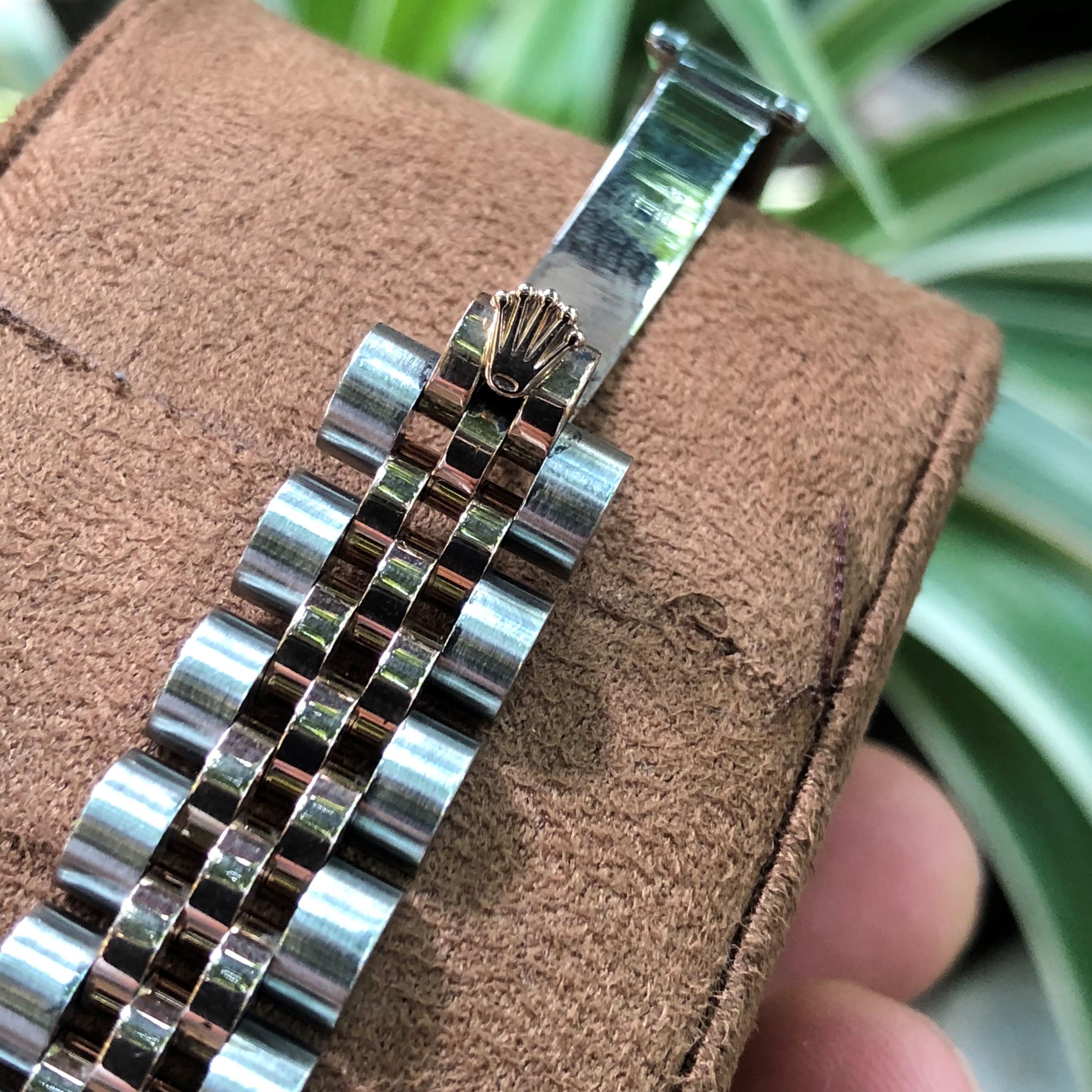 Rolex Datejust 179171 mặt trắng men vàng Demi vàng hồng 18k Size 26mm