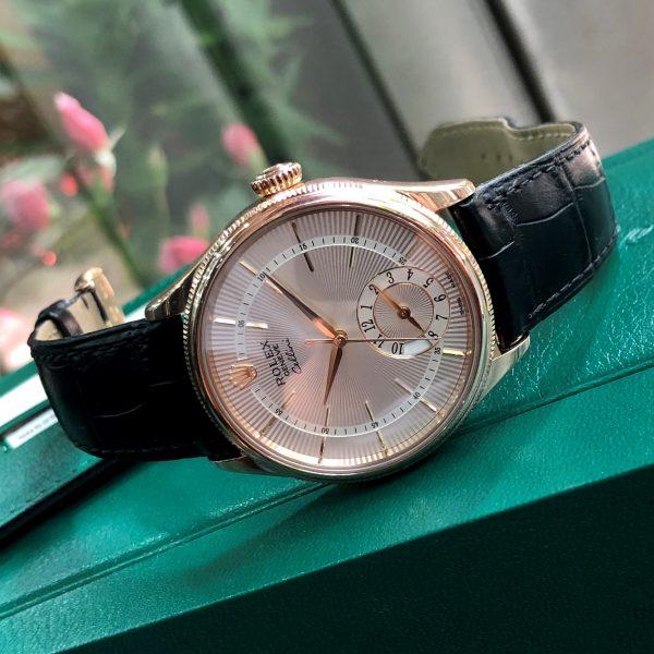 Rolex Cellini 50525 Mặt trắng Vàng hồng 18k Size 39mm Fullbox