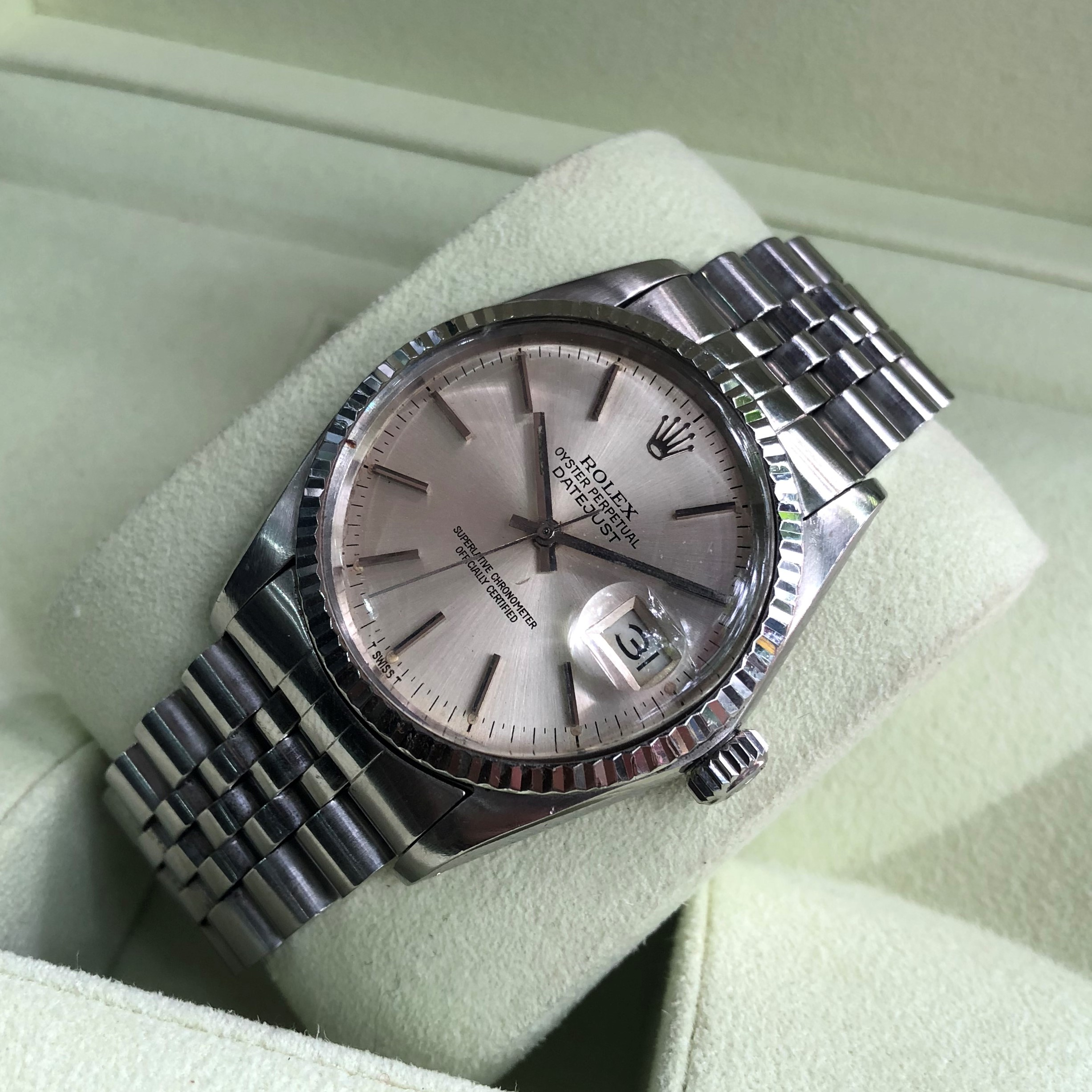 Rolex Datejust 16014 Mặt tia Kính Meka Size 36 Đời 1980