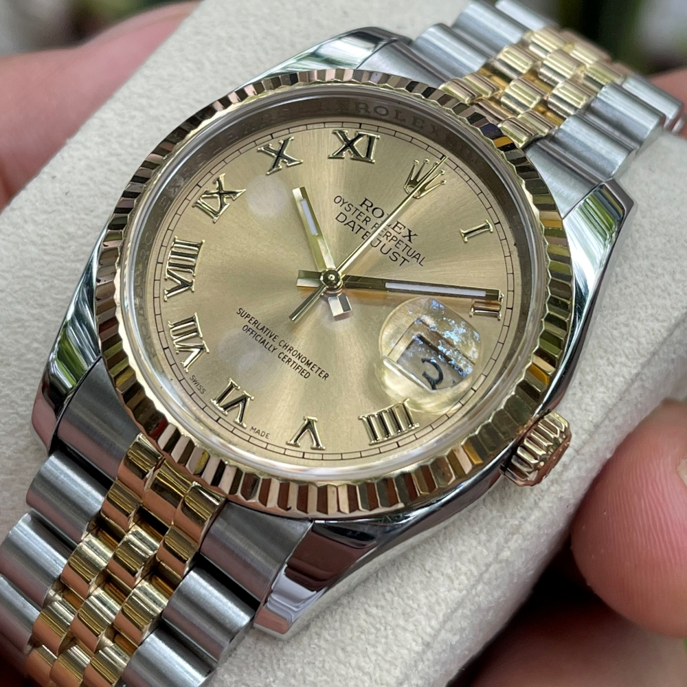 Dong-ho-Rolex-Datejust-116233-Champagne-Dial-Demi-vang-18k-size-36mm-3