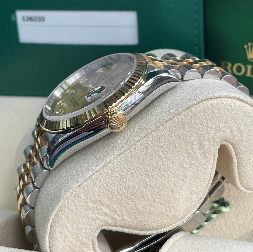 Rolex Datejust 126233 Champagne Dial Demi vàng 18k Size 36 Fullbox 2020