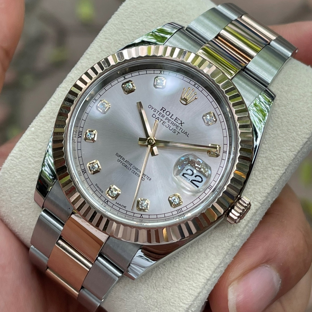 Rolex Datejust 41 Ref. 126331 Mặt phấn hồng Rolesor Everose Gold