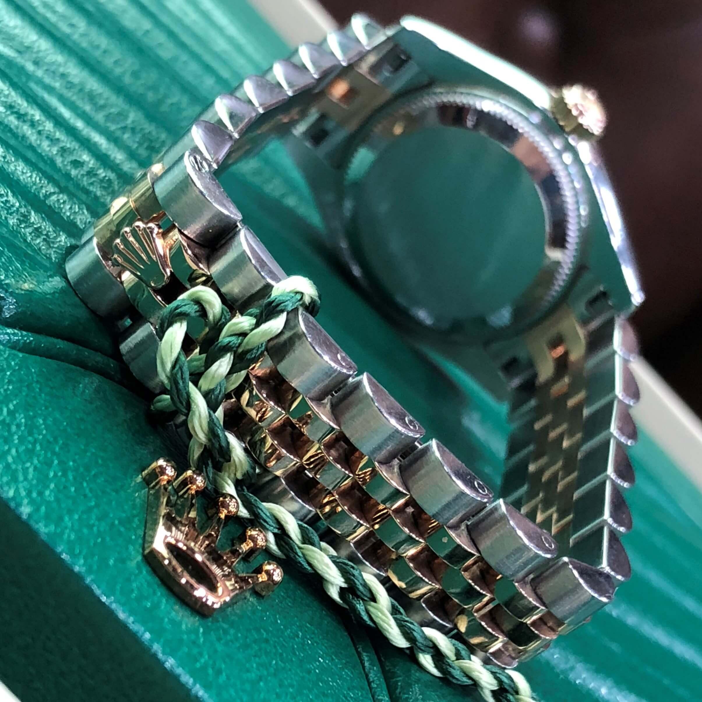 Rolex Lady-Datejust 179171 Mặt ốc trắng Demi vàng hồng 18k