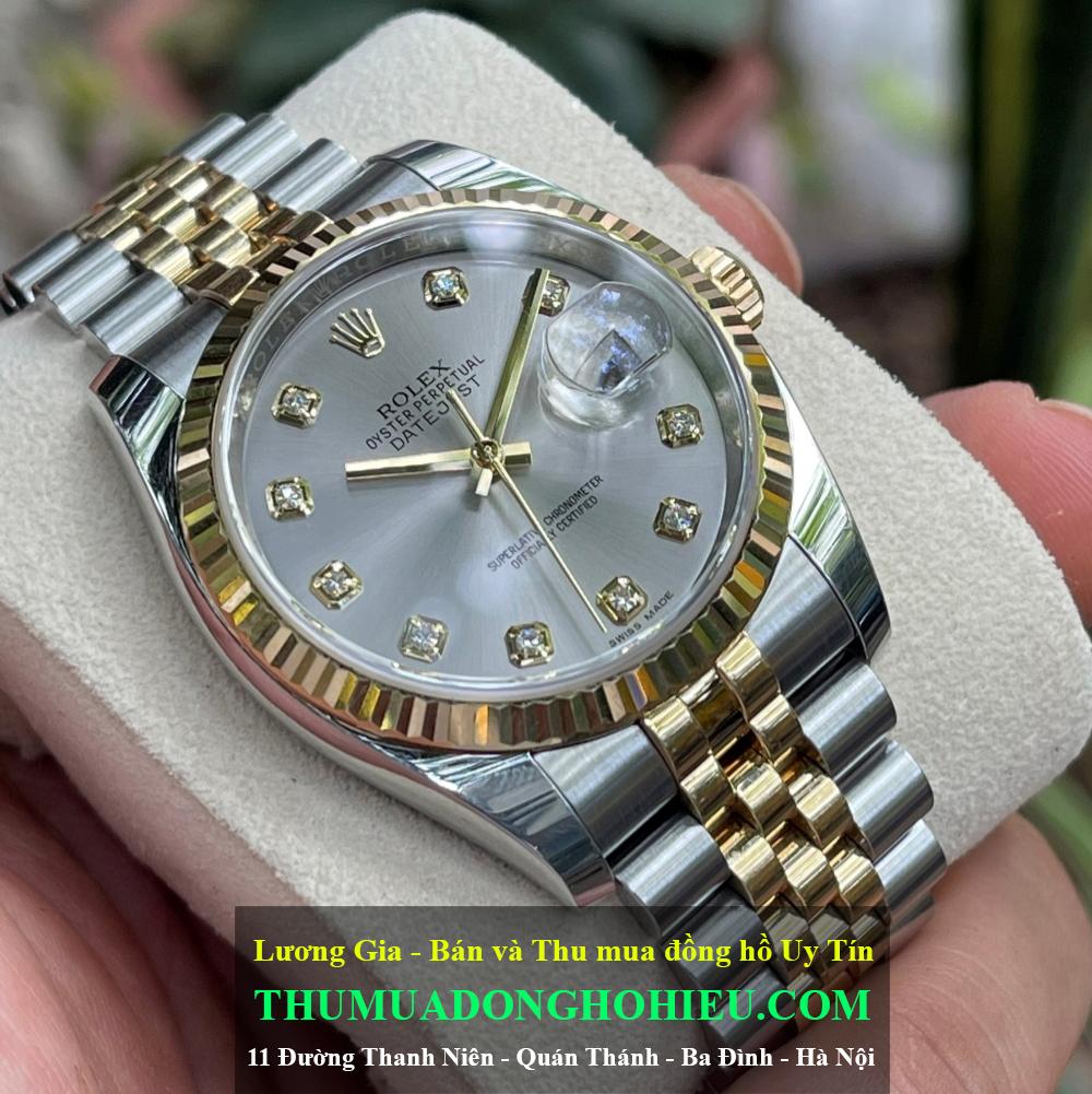 Đồng hồ Rolex Datejust 116233 Mặt khói Demi vàng 18k Size 36mm Đời 2018